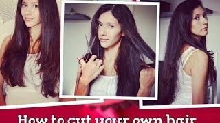 КАК ПОДСТРИЧЬ СЕБЯ ДОМА. стрижка лесенка. How to cut your own hair(видео по вашему запросу Как я себя стригу сама. стрижка лесенка. music jamendo.com., 2014-08-20T20:30:15.000Z)