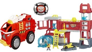 Transformers Rescue Bots Giant Playsets! Griffin Rock Firehouse Headquarters, Mobile Headquarters Tr