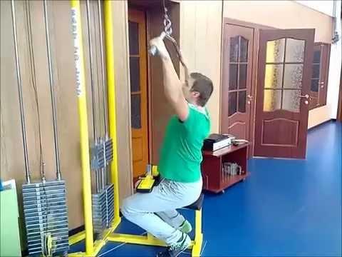 Верхний блок тренажер своими руками