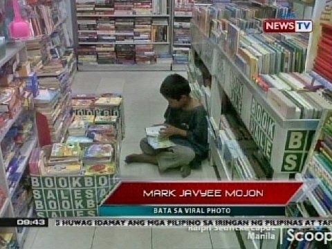 Batang nakunan ng litrato habang nagbabasa sa isang bookstore, ibinahagi ang kwento ng kanyang buhay
