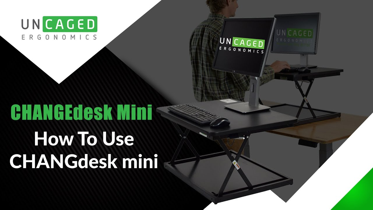 CHANGEdesk Mini cheap adjustable height stand up desk converter for laptops  and desktops
