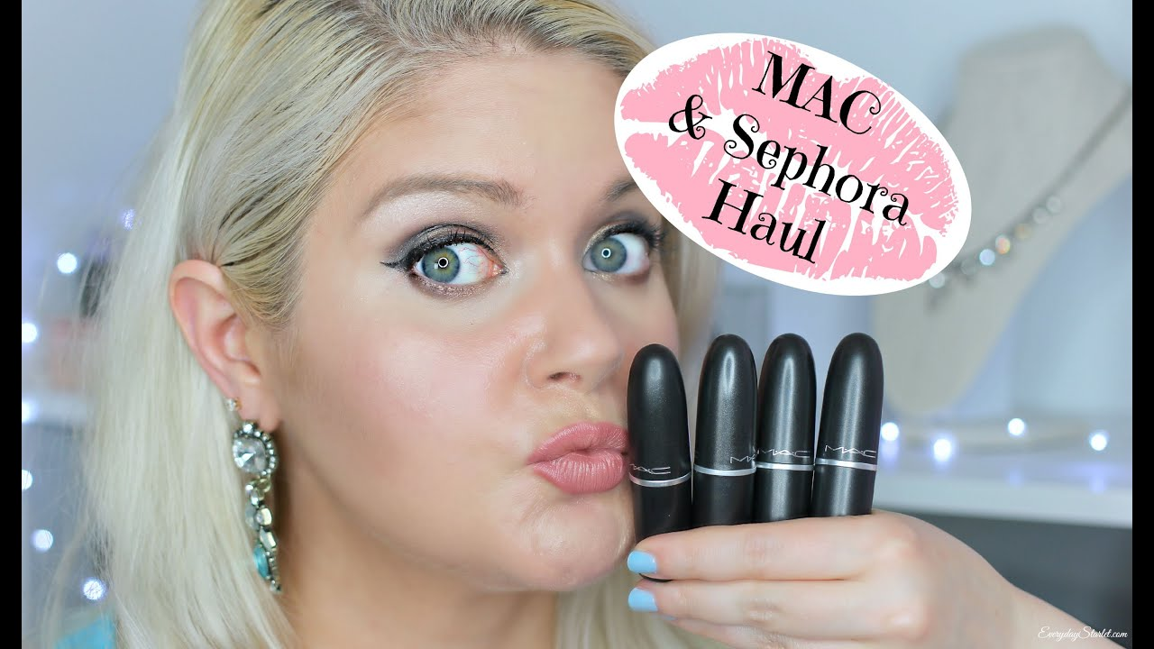 My First Mac Pro Card Haul & Some Sephora Stuff As Well - YouTube