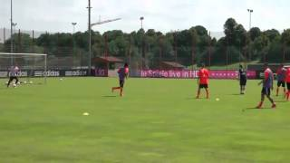 First goal by Xherdan Shaqiri on Fc Bayern(training)