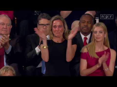 In Donald Trump's Speech, An Emotional Moment From Widow Of Navy SEAL  |  Politics | NPR