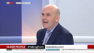 Martin Jones from Home Instead is interviewed on Sky News