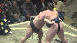 20150112 大相撲初場所2日目 照ノ富士vs豪栄道 照ノ富士大相撲.