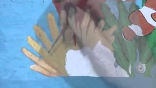 Pintando una anemona - Proyecto Pared (Under the sea)