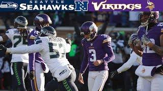 The Frostbite Fight!  Seahawks Vs. Vikings, 2015 Nfc Wild Card  | Nfl Vault Highlights