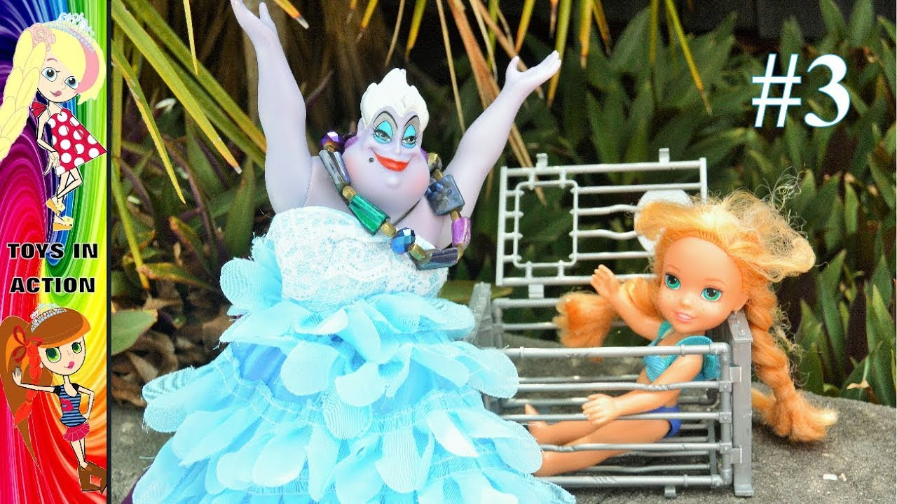 Download Anna and Elsa Toddlers Swimming Pool Part 3! Annya Meets Ursula - Ep. 103 - Toys In Action