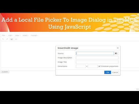 Add a Local File Picker to image Dialog in TinyMCE || php website