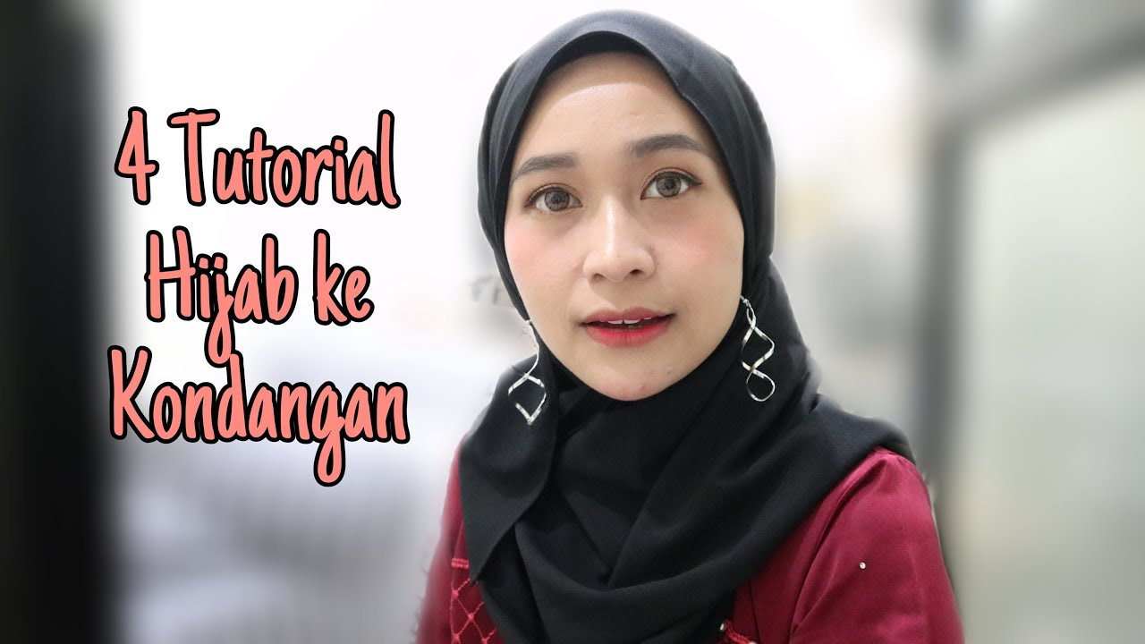 Tutorial Hijab Ke Undangan Pesta Pake Jepit Anting Youtube