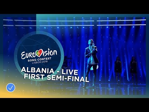 Eugent Bushpepa - Mall - Albania - LIVE - First Semi-Final - Eurovision 2018
