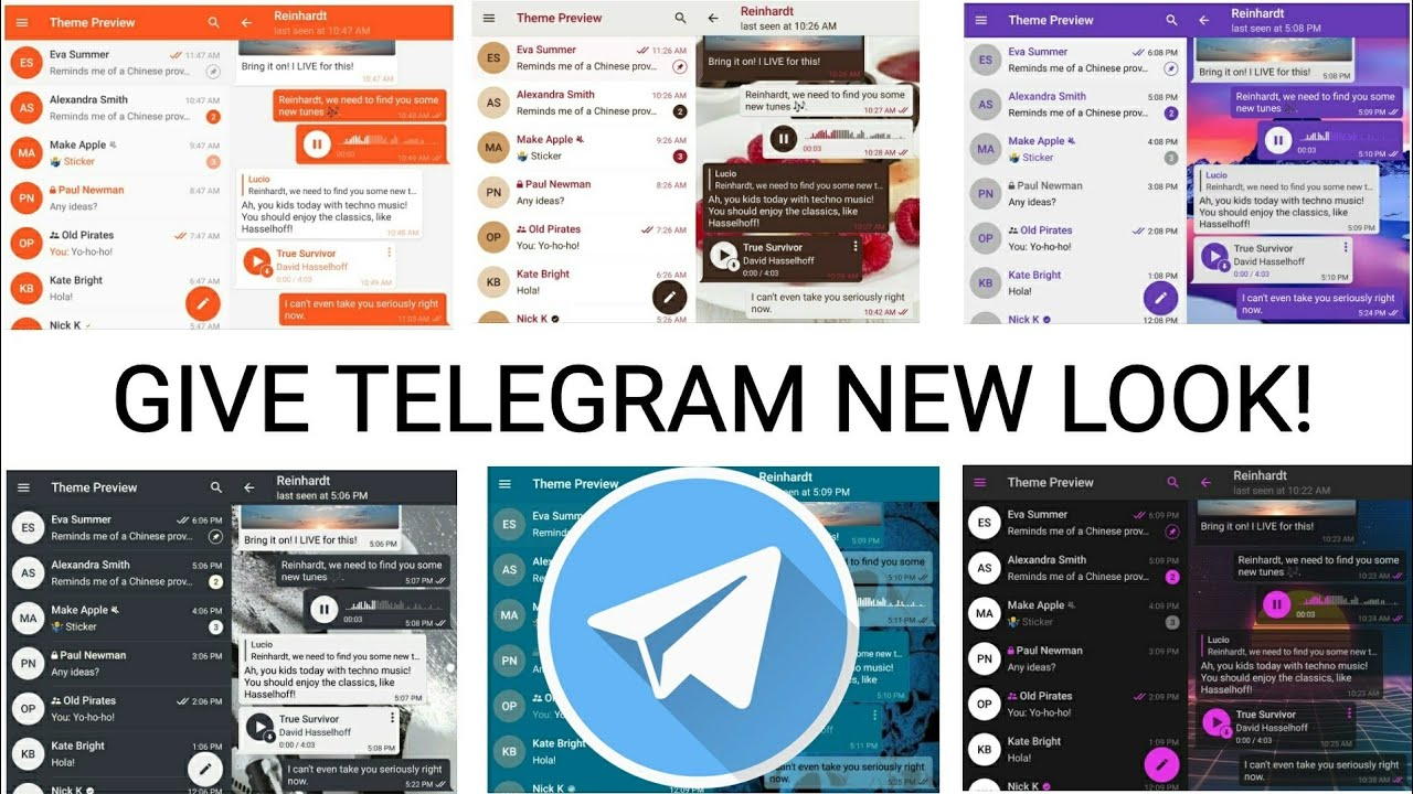 How to Change Default Telegram Theme | Custom Telegram Themes for Android  and IOS