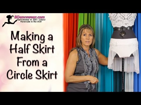 How to Make A Half Skirt From A Circle Skirt