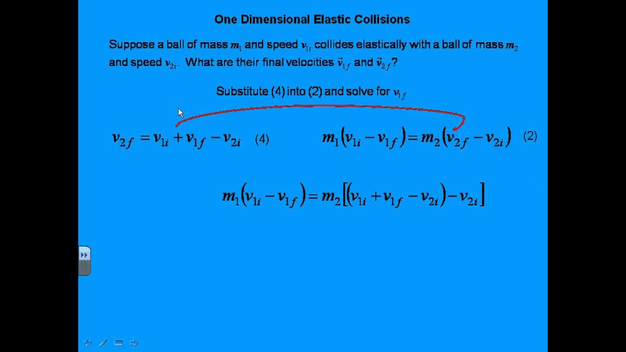 how to find ek in an elastic collision