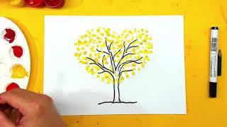 Рисуем ОСЕНЬ с ЛЮБОВЬЮ - осенне дерево гуашью