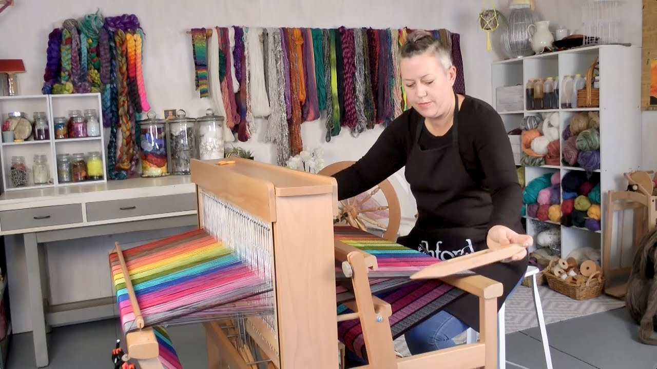 weaving on the ashford jack loom youtube