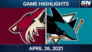 NHL Game Highlights   Coyotes vs. Sharks – Apr. 26, 2021