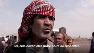 Iraq: des familles déplacés fuient l'ouest de Mossoul