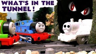 Thomas & Friends Tunnel Ghost Prank with Train Toys & Disney Cars - Fun Toy Trains for Kids TT4U