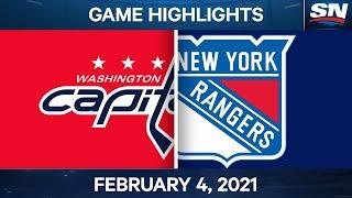 NHL Game Highlights   Capitals vs. Rangers - Feb. 4, 2021