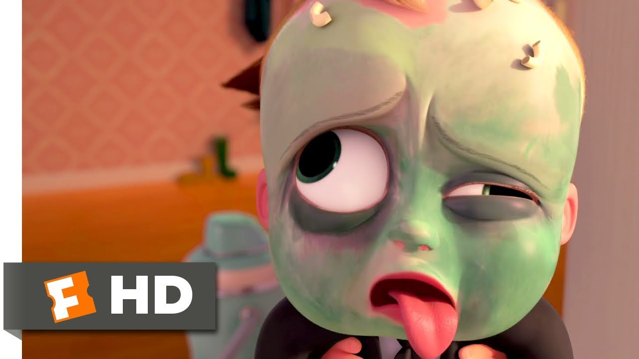 The Boss Baby (2017) - Baby Vomit Fountain Scene (7/10) | Movieclips