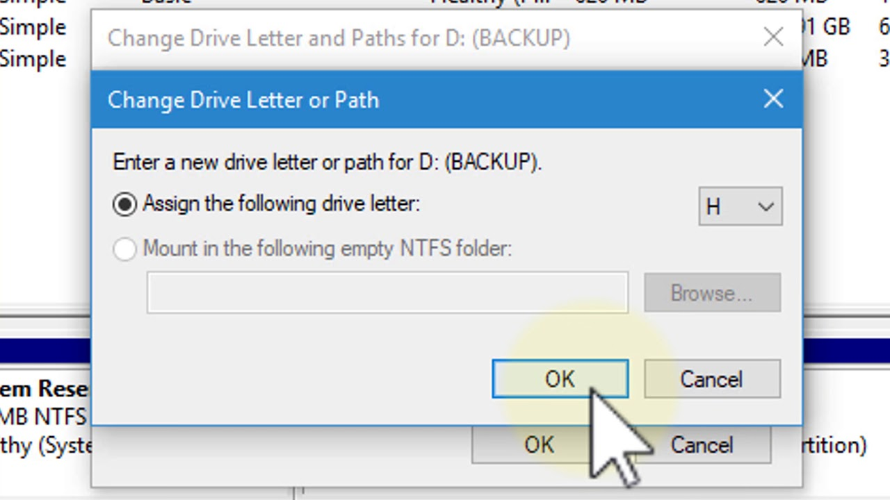 How to change/assign a drive letter in Windows 10 - Tutorial
