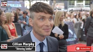 Cillian Murphy red carpet interview at the Dunkirk premiere