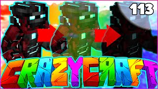 "Minecraft CRAZY CRAFT 3.0 SMP - ""IRON SUIT OF STEALTH"" - Episode 113"