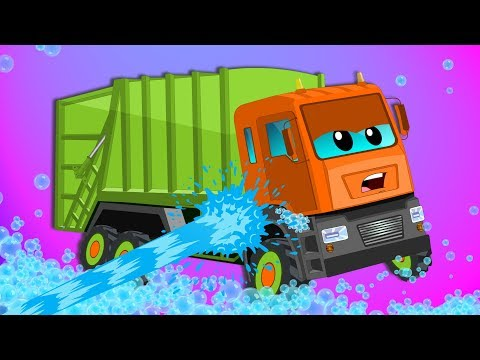 Garbage truck | Car Wash | Video For Kids | Vehicles for children | Car wash by Kids channel