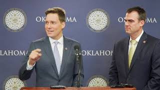 Gov. Stitt, Lt. Gov. Pinnell press conference