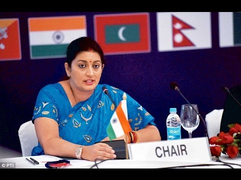 Exclusive Smriti Irani At Central Advisory Board Of Education Meet !!!