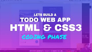Lets Build A Responsive Todo App for Laravel with HTML & CSS