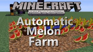 Minecraft Xbox 360 How to Make an Automatic Melon Farm