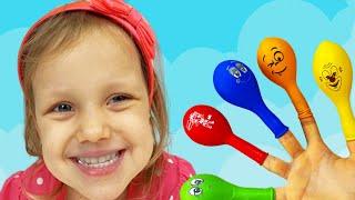 Пять красочных шариков | Настя играет с шариками - Детские песенки от Alex and Nastya