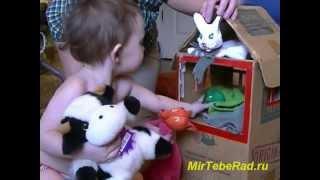 Домик для кукол. Играем в куклы с малышами.(Как сделать домик для кукол из коробки? Немного терпения и фантазии. И уже скоро в домике для кукол будут..., 2013-01-10T05:24:16.000Z)
