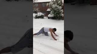 When desi go to United States and see snow fall