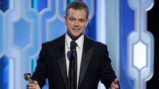 Matt Damon Delivers Heartfelt Speech At 2016 Golden Globes
