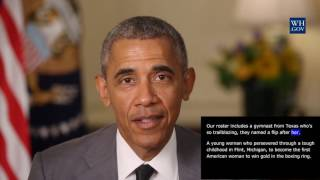 President Obama -  August 6th, 2016 - video caption - Best of America in the Summer Olympics