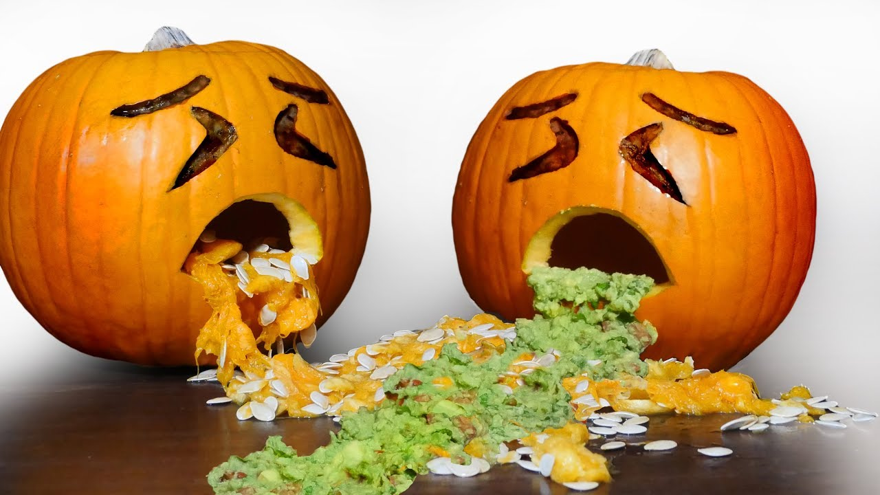 How to Carve a Spewing Pumpkin , Halloween Ideas