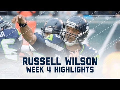 Russell Wilson 3 TD Highlights | Seahawks vs. Jets | NFL Week 4 Player Highlights