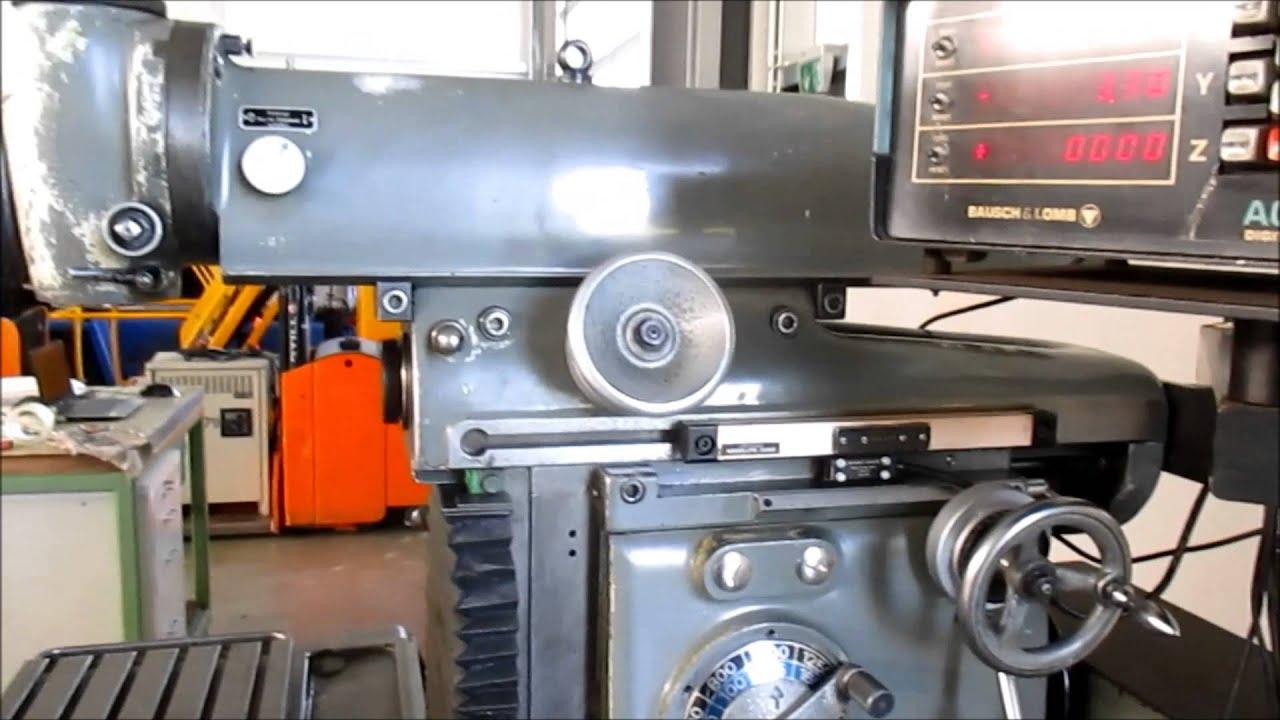 DECKEL DECKEL FP 2 Tool Milling Machine - YouTube