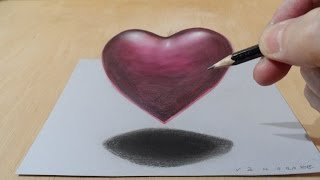 Draw a 3D Floating Heart, Visual Illusion