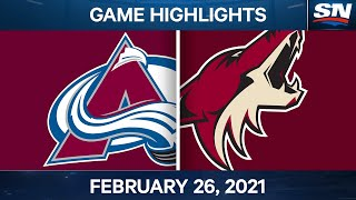 NHL Game Highlights | Avalanche vs. Coyotes - Feb. 26, 2021
