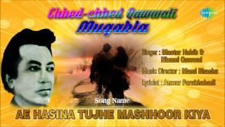 Ae Hasina Tujhe Mashhoor Kiya | Ghazal Song | Master Habib, Nizami Qawwal