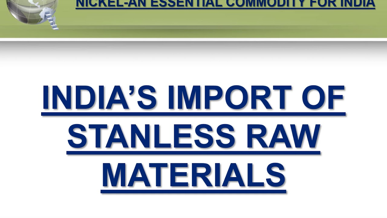 NICKEL - AN ESSENTIAL COMMODITY FOR INDIA - JAN 2015