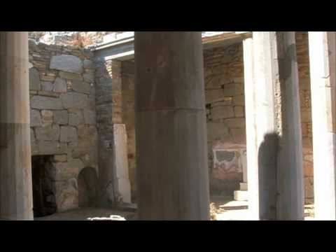 Inside the Doric Temple of Isis on the Island of Delos, Greece