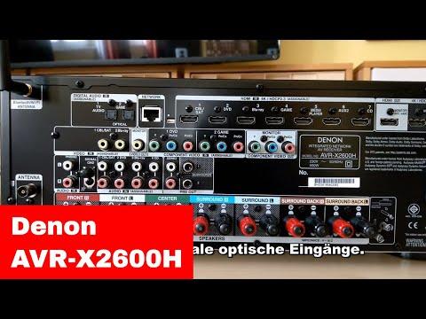 Kurztest/Preview/Unboxing: Denon AVR-X2600H AV-Receiver