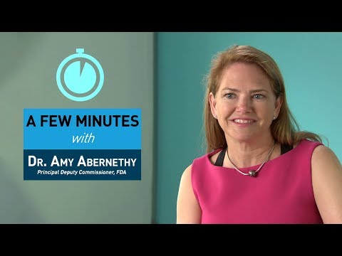 A Few Minutes with Dr. Amy Abernethy - YouTube
