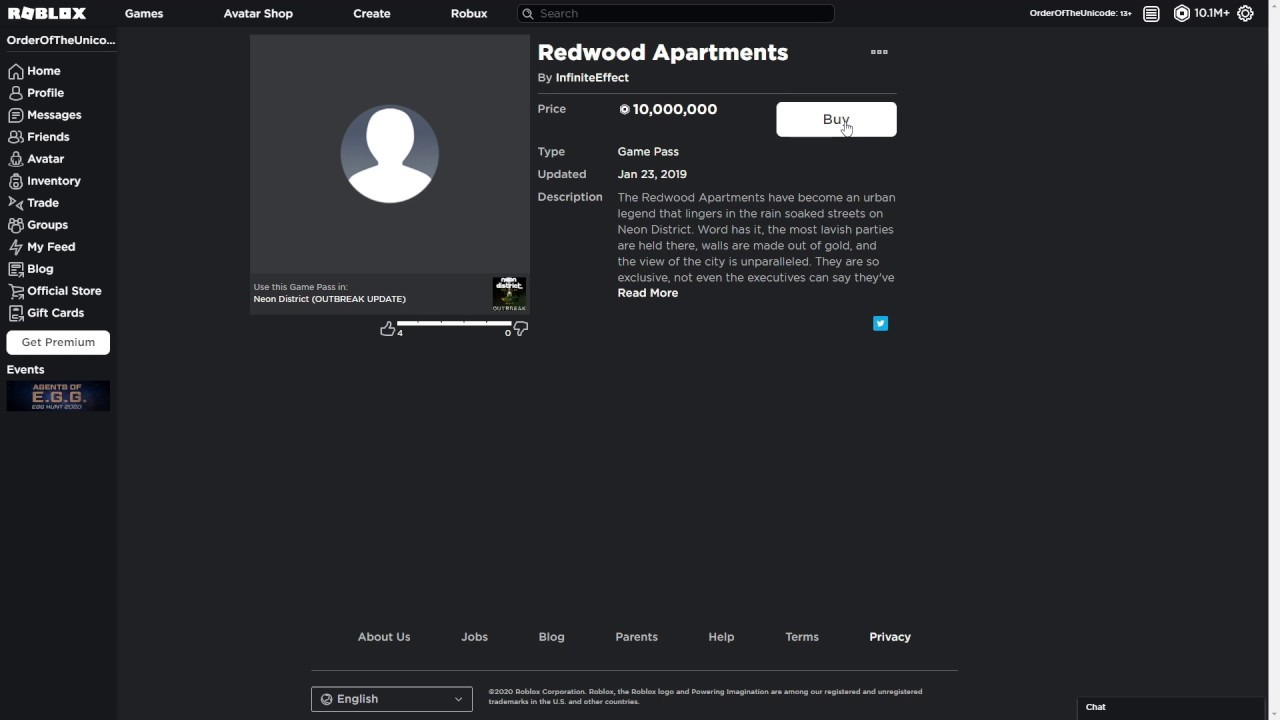 Buying Redwood Apartments Roblox Neon District Youtube